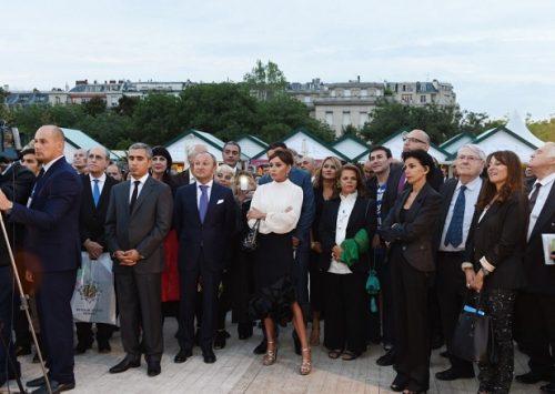 Azvision.az : Mehriban Aliyeva visite `Village d'Azerbaïdjan` à Paris